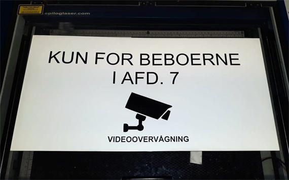 Opmærkning videoovervågning